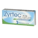 ЗИРТЕК табл. x 20  Zirtek allergy relief tablets