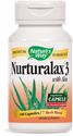 НАТУРАЛАКС 3 С АЛОЕ  430 mg  100 kaпс.   Nature's Way Nurturalax 3 with Aloe