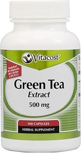 Екстракт от зелен чай  500 mg 100 kaпс.Vitacost Green Tea Extract  Standardized