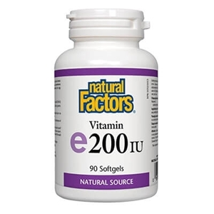 Естествен Витамин Е 100 mg 90 капс. Natural Factors Vitamin E 200 IU  Natural Source