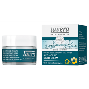 ХИДРАТИРАЩ НОЩЕН КРЕМ 50 ml LAVERA BASIS SENSITIV ANTI AGEING NIGHT CREAM Q10