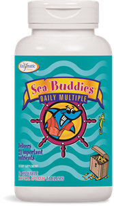Мултивитамини и Йод тропик 480 mg 60 дъвч.табл. Sea Buddies™ Daily Multiple  Tropical Splash