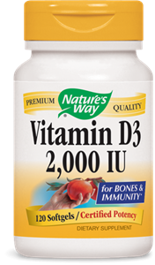 Витамин  D3 2000 IU 120 капс. Nature's Way Vitamin D3