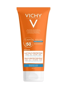 Хидратиращо мляко за лице и тяло 300 ml Vichy Capital Soleil Beach Protect Multi Protection Milk SPF 50
