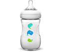 Бутилка за бебе 260 ml биберон с бавен поток  1m+ биберон Philips Avent Natural baby bottle Extra soft slow flow nipple