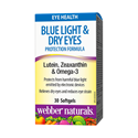 ФОРМУЛА ЗА ОЧИ С ЛУТЕИН ЗЕАКСАНТИН И ОМЕГА 3 30 софтгел капс.  Webber Naturals Blue Light & Dry Eyes Protection Formula